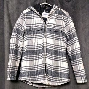 WINDRIVER Sherpa Lined Flannel Shacket